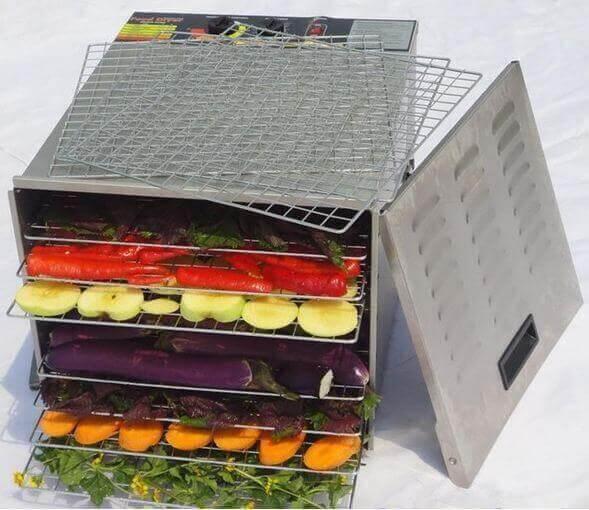 máy sấy thực phẩm gia đình inox