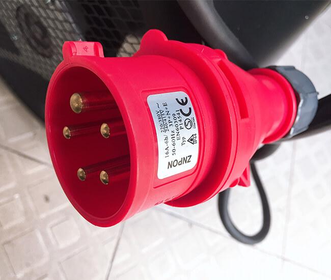 Quạt sấy gió nóng 9kw dạng tròn sử dụng điện 3 pha